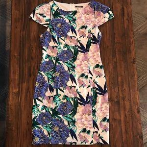 Beautiful Floral Print Bodycon Dress